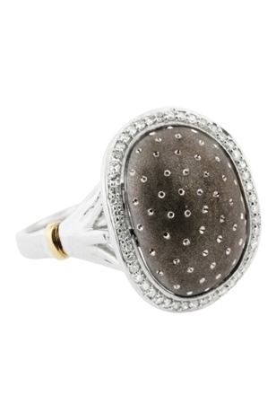 EFFY ring in silver and gold with diamonds