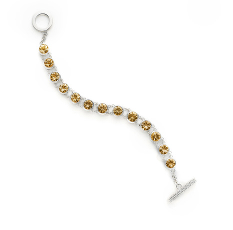 bracelet in silver with citrine by Haverhill Collection
