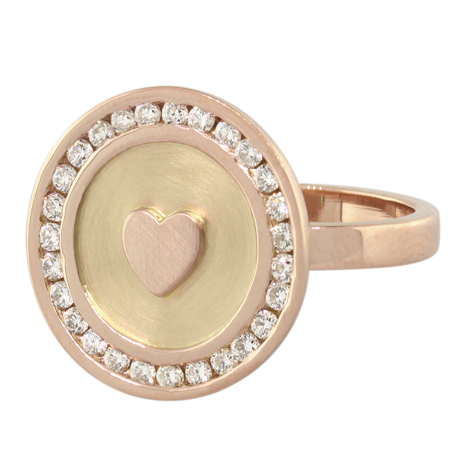 Heather B. Moore signet ring in gold