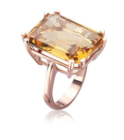 Citrine ring by Lisa Nik