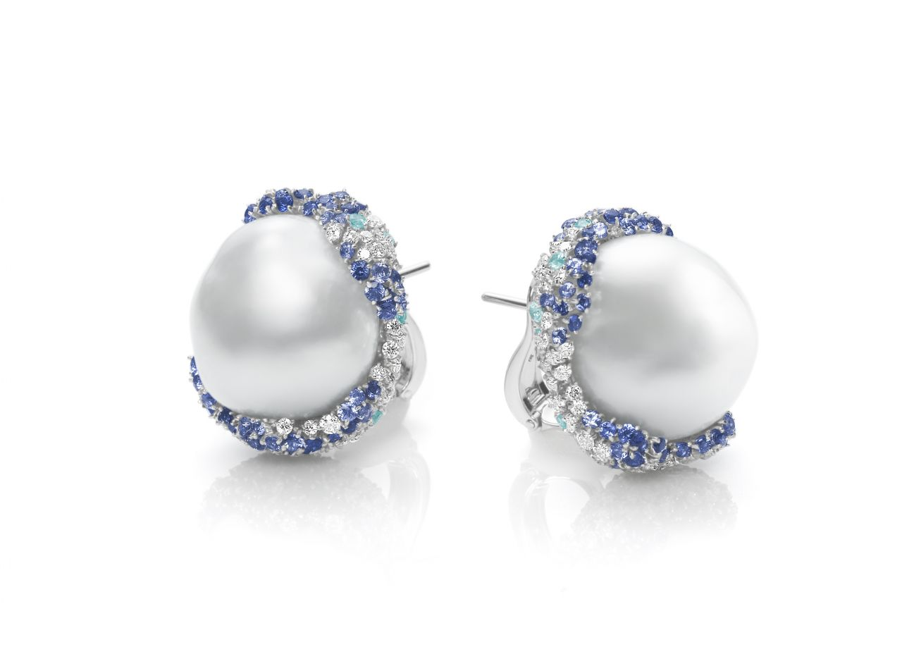 Mikimoto Four Seasons Winter earrings