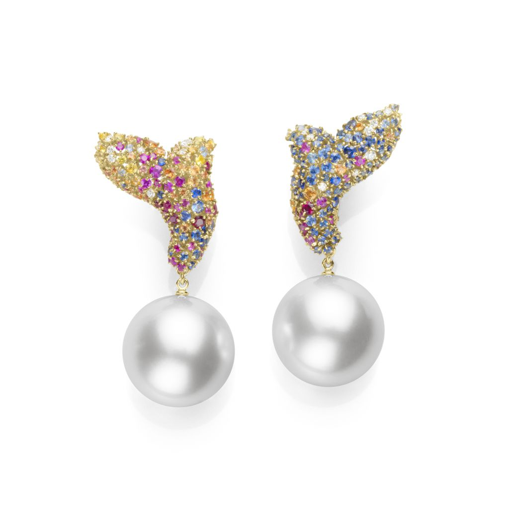 Mikimoto Four Seasons Summer earrings