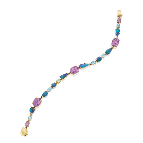 Mimi So bracelet with opal, aquamarine, and amethyst