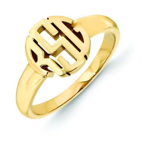 Quality Gold gold signet ring