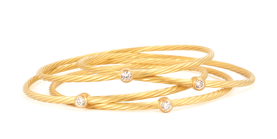 Reinstein Ross gold bangles