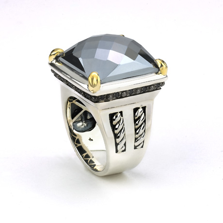 Ring in silver with 18k by Samuel B.
