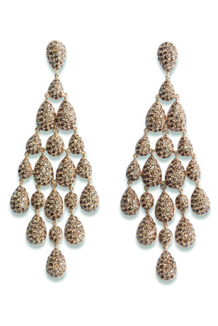 Sillam earrings in gold with brown diamonds