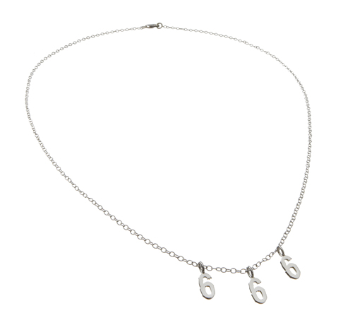 Wendy Brandes 666 necklace in silver
