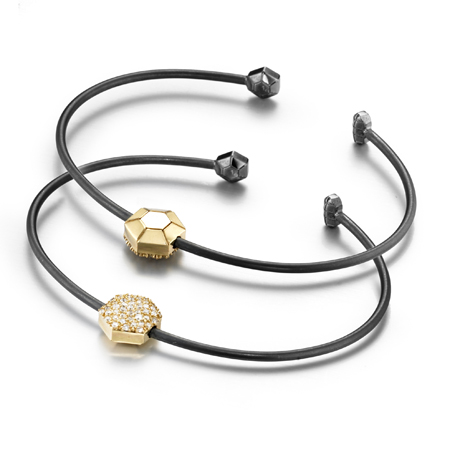 Zaiken bracelet in silver and gold with diamonds