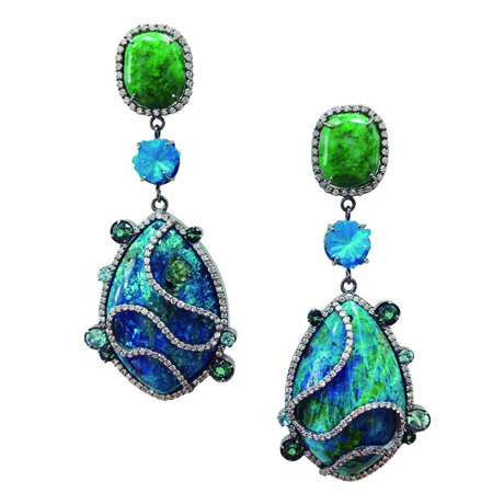 Earrings with opal by Colette