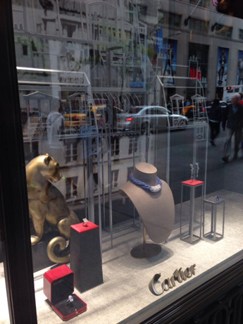 Grand Palais-inspired window display at Cartier