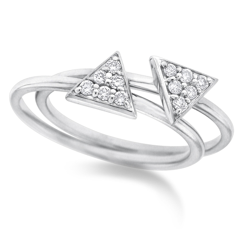 KC Designs diamond triangle stacking rings