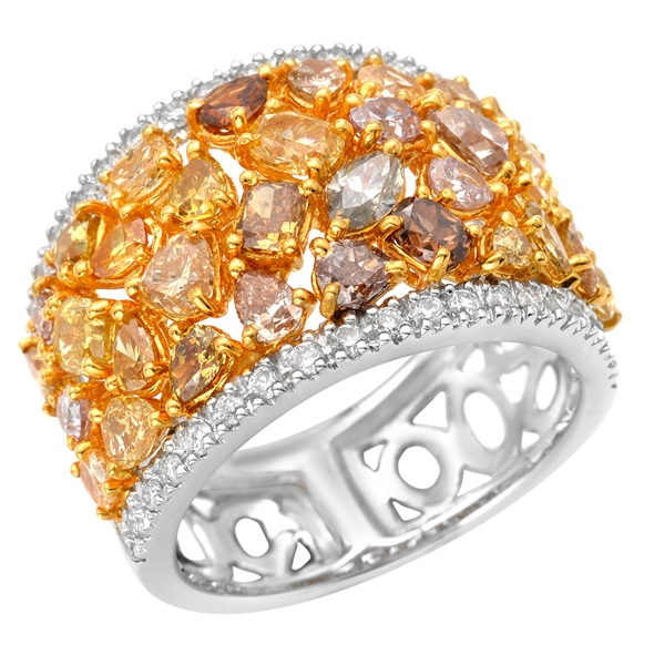 Almor Designs fancy multicolor diamond ring