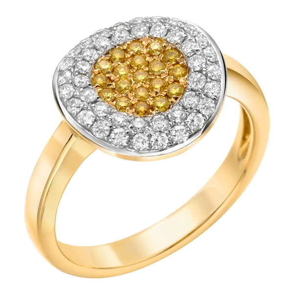 Almor Designs pave diamond circle ring