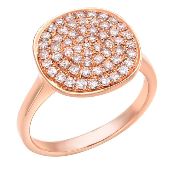 Almor Designs pave pink diamond circle ring