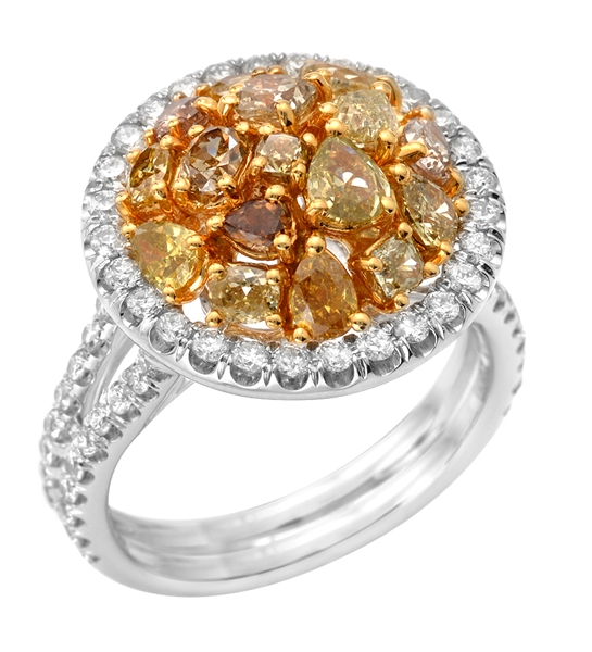 Almor Designs fancy halo ring