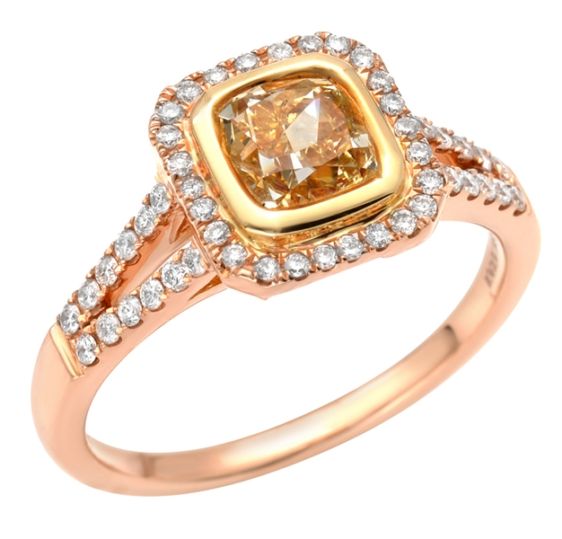 Almor Designs rose gold fancy diamond ring
