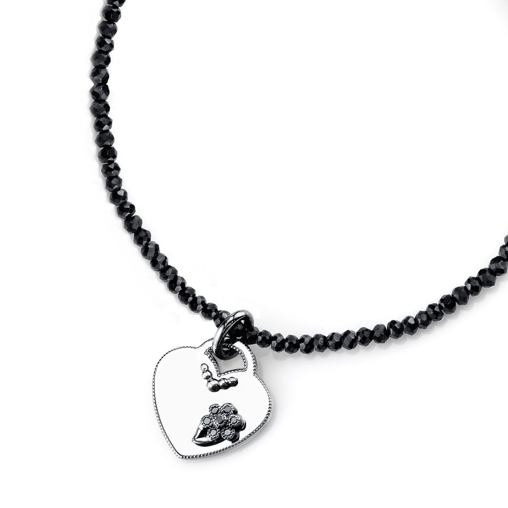 Katharine James Vogue Noir heart necklace