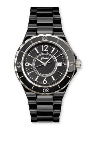 Black ceramic watch by Belair