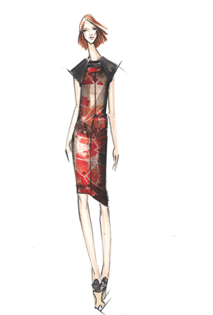 Sketch by Bibhu Mohapatra for Pantone
