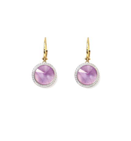 Light amethyst and gold earrings from Bizzotto