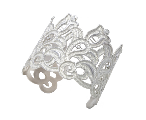 Blanche cuff in silver by Mignon Faget