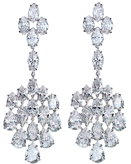 Jacob & Co. diamond chandelier earrings
