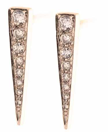 EF Collection diamond and gold earrings