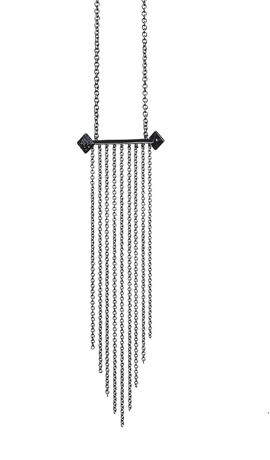 Lyon Fine Jewelry necklace with black diamonds
