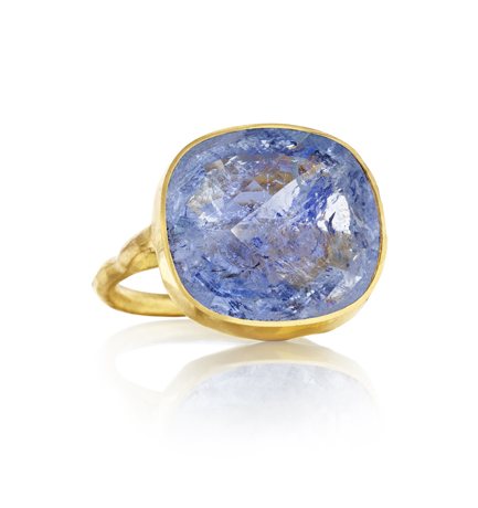 Margery Hirschey gold ring with beryl