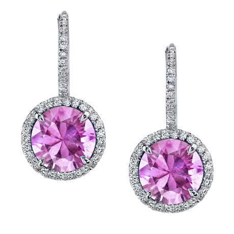 Omi Prive pink sapphire earrings
