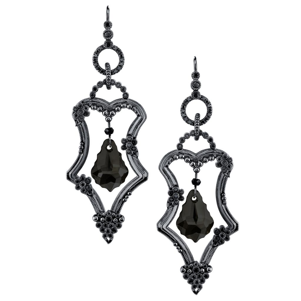 Katharine James Vogue Noir chandelier earrings