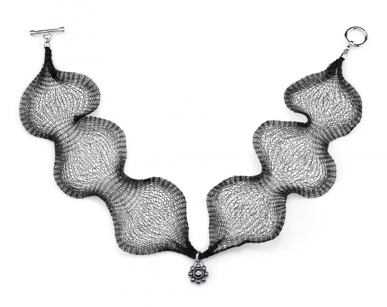 Katharine James Vogue Noir choker necklace