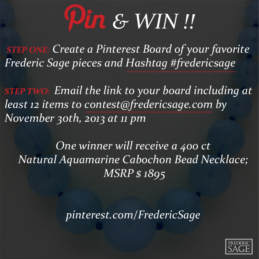Frederic Sage pin to win