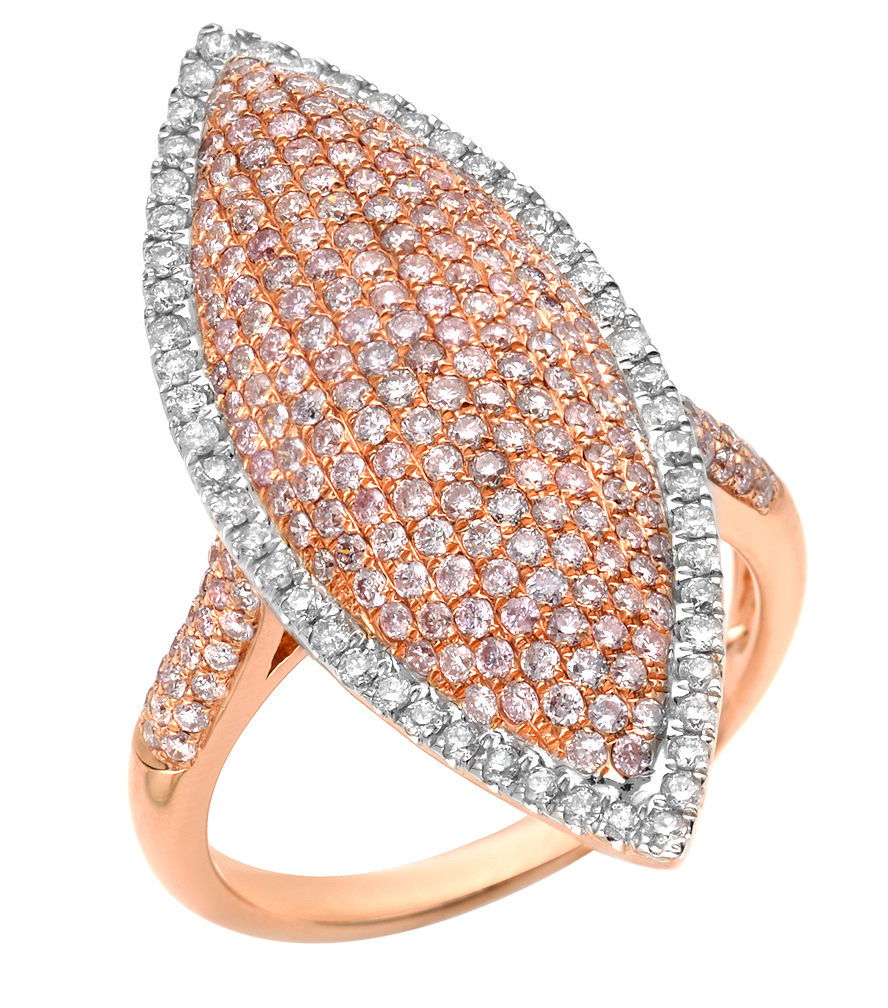 Almor Designs fancy pink diamond ring