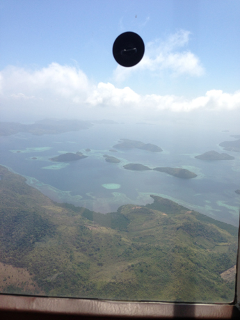 View from the choppers over the Sulu and Philippine Ses