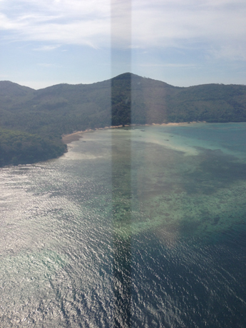 View from the choppers over the Sulu and Philippine Seas