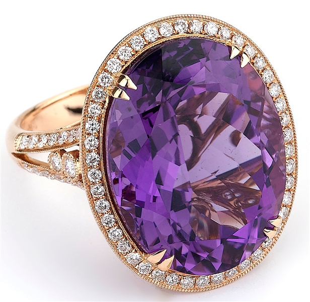 Supreme Jewelry amethyst cocktail ring