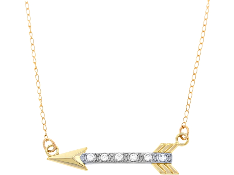 Charm America two-tone arrow necklace