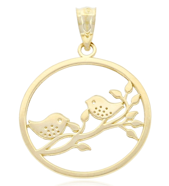 Charm America birds on a branch charm
