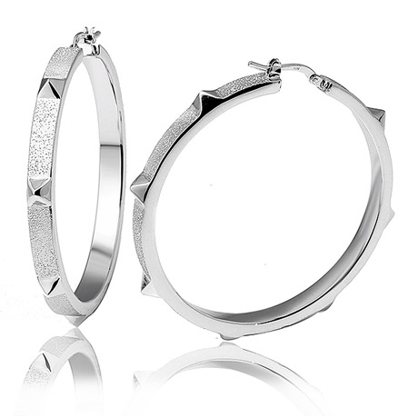 Charles Garnier Paris sterling hoops from Spike collection
