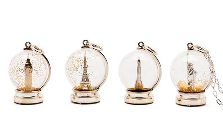 Snow Globe pendants by Charmed Circle