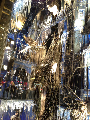 Windows at Bergdorf Goodman, on Fifth Ave. between 57th and 58th Streets, celebrated a bevy of holidays; shown, Halloween.
