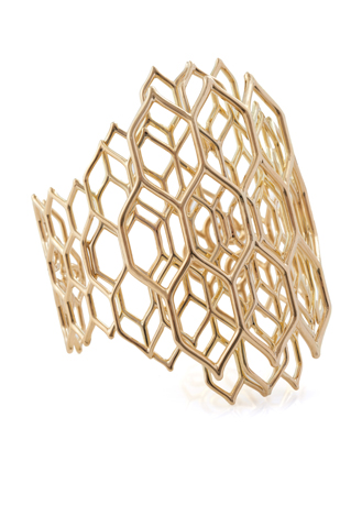 Cuff in 18k gold by Waris for LoveGold