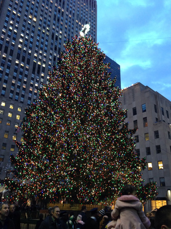 A closer look at the Christmas tree at Rockefeller Center