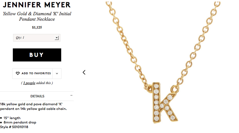 Jennifer Meyer diamond initials