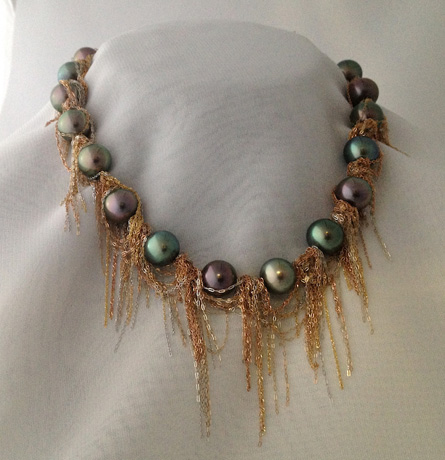 Pearl and gold necklace by Martin Bernstein
