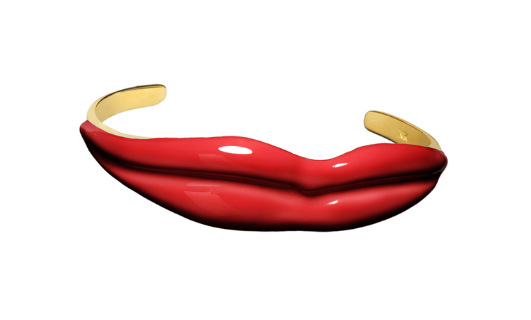 Lips cuff by Nora Kogan