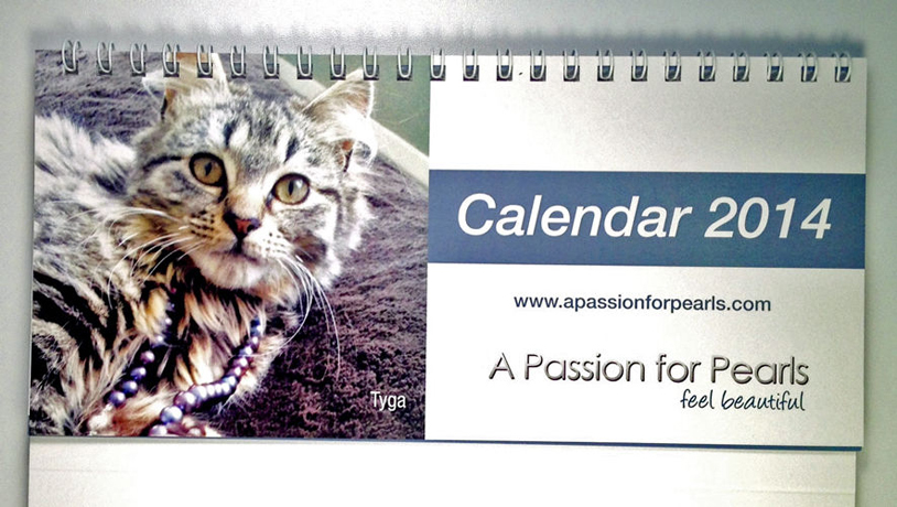 A Passion for Pearls 2014 calendar