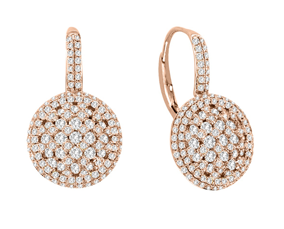 iZi Creations 14k gold and diamond earrings